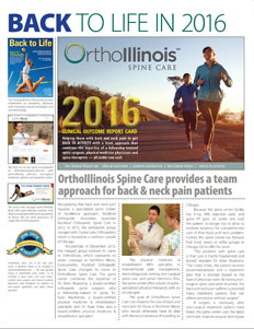 orthoillinois spine care mini brochure, dr brian braaksma, dr ryan enke, dr sean mackenzie